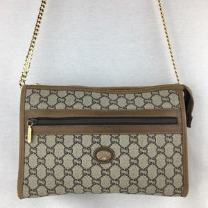 Vintage GUCCI Plus GG Pouch on Chain